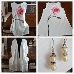 Set: Mini dress + Covering + Earring